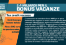 Bonus vacanza: al via dal 01 luglio 2020